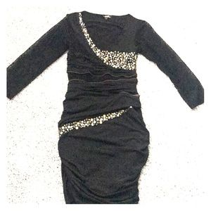 bebe Black lace and gem dress 👗